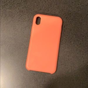 iPhone XR coral rubber case